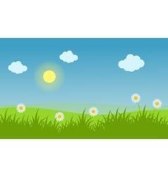 Spring landscape background with flower vector