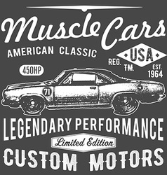 T-shirt typography design retro car printing vector image vector image