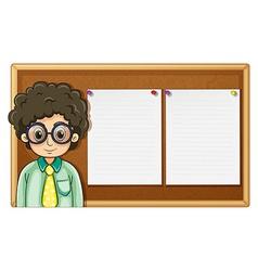 Teacher standing in front of board vector image