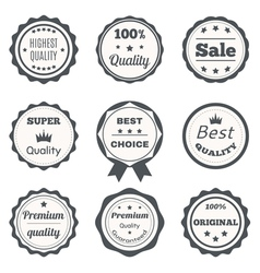 Vintage badges best choice premium quality highest vector