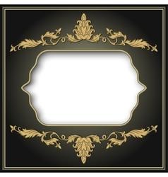 vintage border frame engraving vector image vector image
