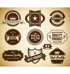 Vintage labels Collection 21 vector image vector image