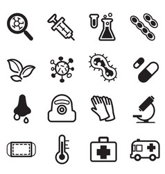 Virus icon set vector