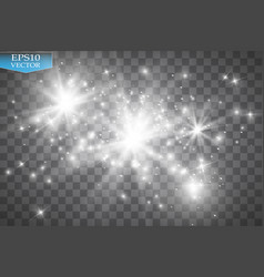 white glitter wave white star dust trail vector image vector image