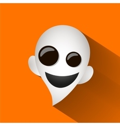 Fun ghost halloween vector