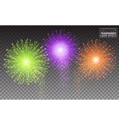 Festive brightly colorful fireworks and salute vector