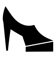 Women shoes on platform icon simple style vector