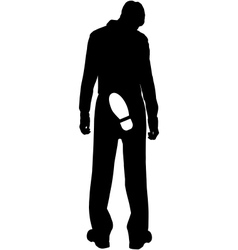 Work dismissed silhouette vector