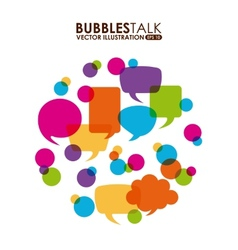 Bubbles talk vector