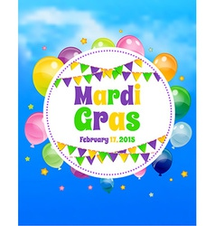 Mardi gras background with flags vector
