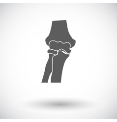Knee-joint single icon vector