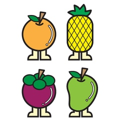 Fruit icons colour 1 vector