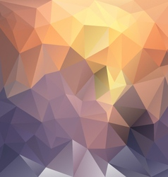 Sundown polygon triangular pattern background vector