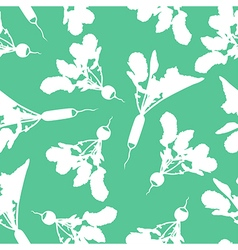 Radish pattern green vector