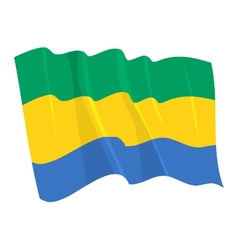 political waving flag of gabon vector image