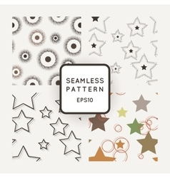 Set of seamless geometric patterns with vector