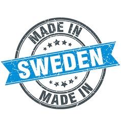Made in sweden blue round vintage stamp vector