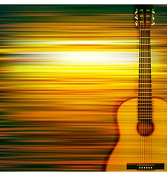 abstract green blur music background with acoustic vector image