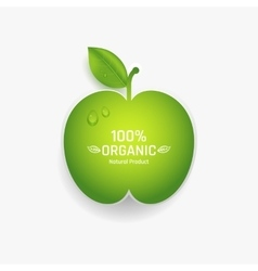 Apple label vector image vector image