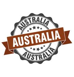 Australia round ribbon seal vector