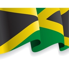 Background with waving jamaican flag vector