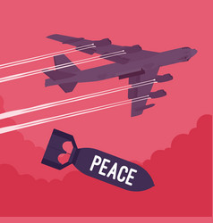 Bomber and peace bombing vector