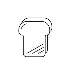 bread toast line icon sign vector image vector image