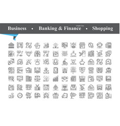Business icon isolated vector