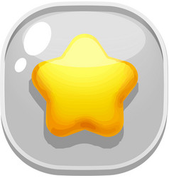Button glass for mobile games favorites star vector