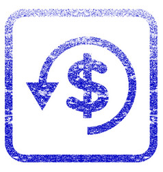 Chargeback framed textured icon vector