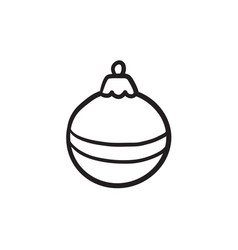 Christmas-tree decoration sketch icon vector