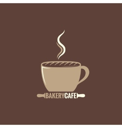 Coffee cup bakery concept background vector