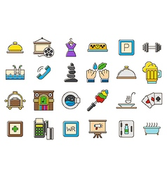 Colorful life icons set vector image vector image