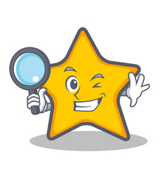Detective star character cartoon style vector