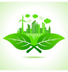 ecology concept- save nature vector image vector image