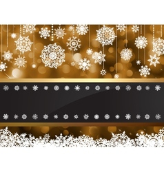 Gold elegant christmas background EPS 8 vector image vector image