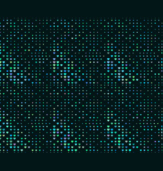 halftone seamless pattern dotted backdrop with vector image vector image