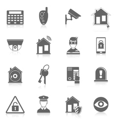 Home security icons vector image vector image