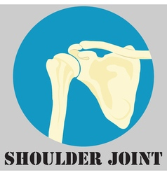 Human shoulder joint vector image