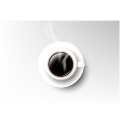 isolated cup of coffee collection americano vector image vector image