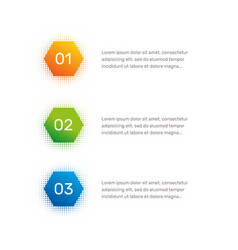 Layout workflow outline colorful menu for app vector