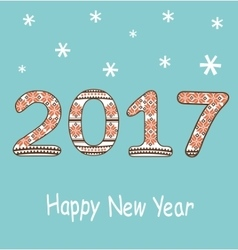 New year 2017 decoration vector