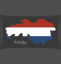 Noord-brabant netherlands map vector