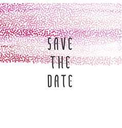 Peach save the date vector