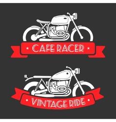 Retro motorcycle logo set vector image