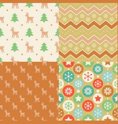 seamless pattern wallpaper of christmas vector image vector image