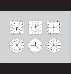 Set clock dial timer vector