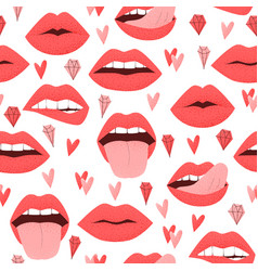 sexy lips with tongue vector image