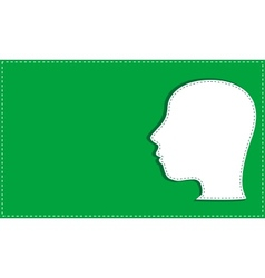 silhouette of man head vector image vector image