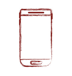 smartphone device icon in dark red blurred vector image